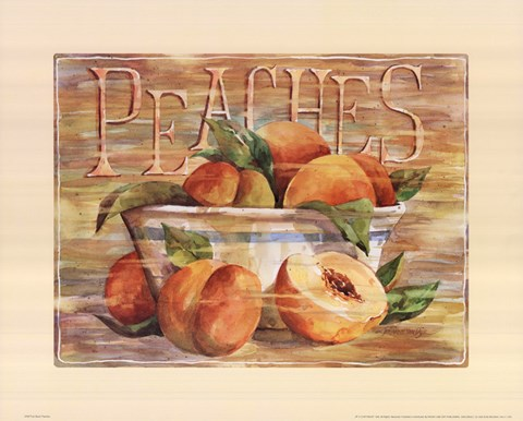 Framed Fruit Stand Peaches Print