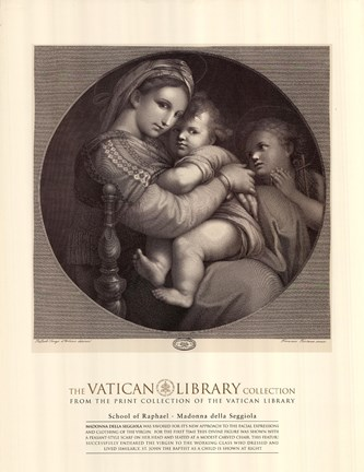 Framed Madonna of the Chair, c.1514, (The Vatican Collection) Print