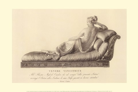 Framed Reclining Lady (verso), The Vatican Collection Print
