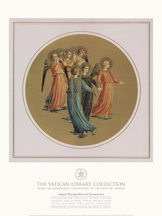 Framed Angels Playing Musical Instruments, Vatican Collection Print