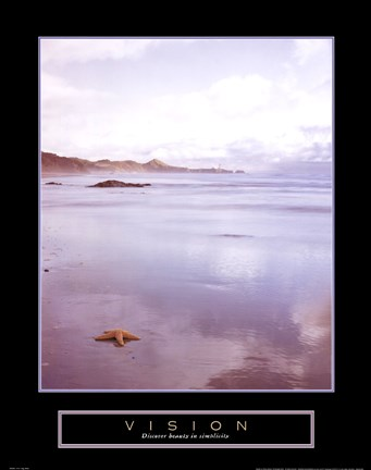 Framed Vision - Foggy Beach Print