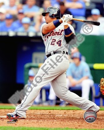Framed Miguel Cabrera 2010 Action Print