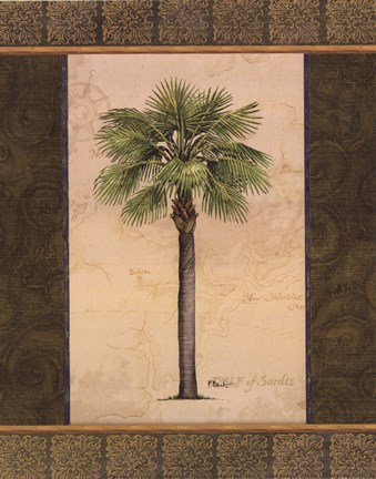 Framed East Indies Palm I - mini Print