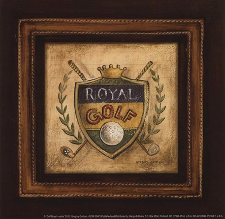 Framed Golf Royal - petite Print