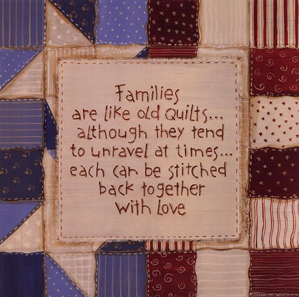 Framed Family Quilts Print