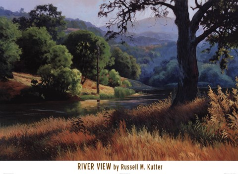 Framed River View Print