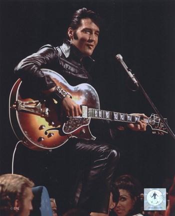 Elvis Presley Wearing Black Leather Jacket 4 Fine Art