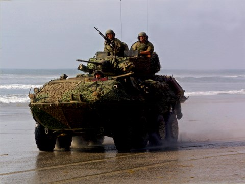 Framed LAV 25 Light Armored Vehicle United States Marine Corps Print