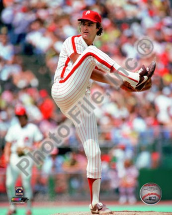 Framed Steve Carlton Action Print