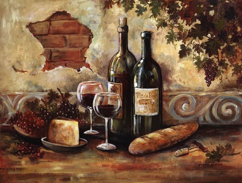 Framed Bountiful Wine II Print