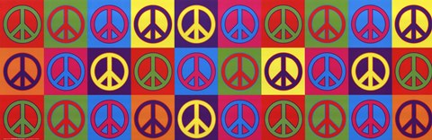 Framed Peace Signs Print