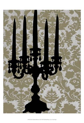 Framed Small Candelabra Silhouette II (P) Print