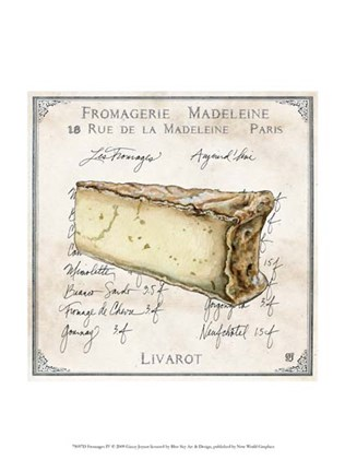 Framed Fromages IV Print