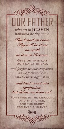 Framed Lord's Prayer Print