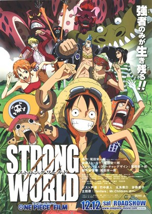 Framed One Piece Film: Strong World - characters posed Print