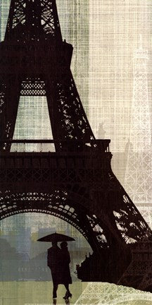 Framed Eiffel Tower I Print