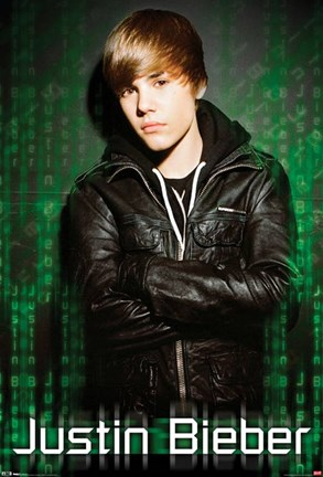 Justin Bieber Green Mural Wall Poster by Unknown at FulcrumGallery.com