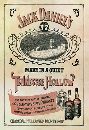Jack Daniels Vintage Label Wall Poster By Unknown At