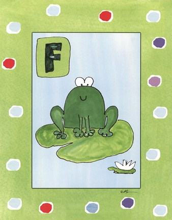 framed f is for frog print