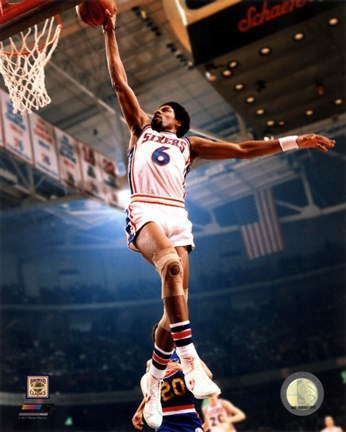 Framed Julius Erving 1974 Action Print