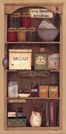 Framed Farmhouse Pantry II Print