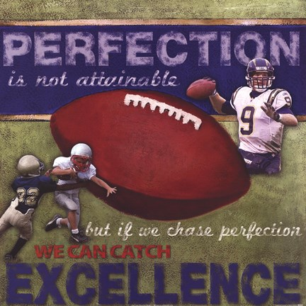 Framed Perfection- Football Print
