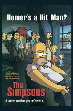 Framed Simpsons Homer's a Hit Man? Print