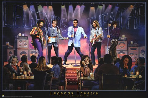 Framed Legends Theatre Print
