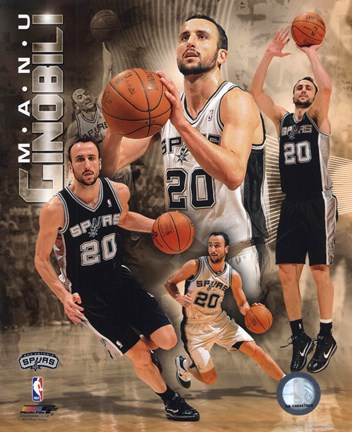 Framed Manu Ginobili 2011 Portrait Plus Print