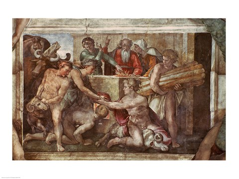 Sistine Chapel Ceiling Noah After The Flood Fine Art