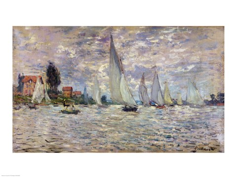 Framed Boats, or Regatta at Argenteuil, c.1874 Print