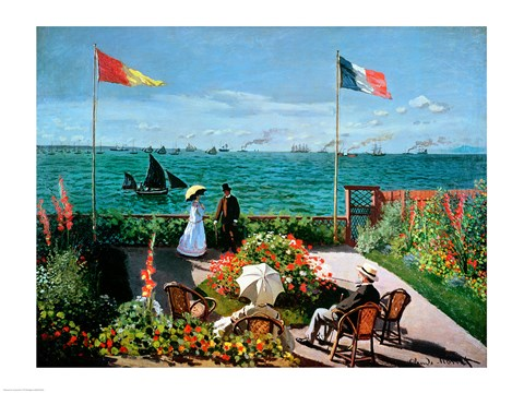 Framed Terrace at Sainte-Adresse, 1867 Print
