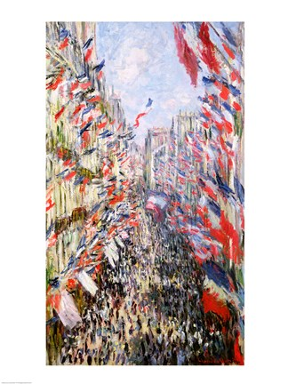 Framed Rue Montorgueil, Paris, Celebration of June 30, 1878 Print
