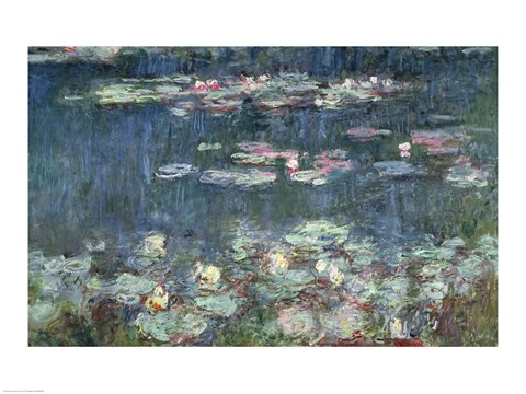 Claude Monet Waterlilies Green Reflections 1914 18 Detail