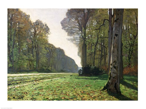 Framed Road to Bas-Breau, Fontainebleau (Le Pave de Chailly), c.1865 Print