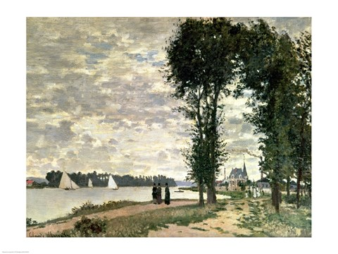 Framed Banks of the Seine at Argenteuil, 1872 Print