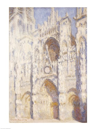 Framed Rouen Cathedral, Afternoon Print