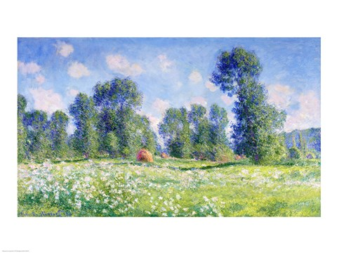 Framed Effect of Spring, Giverny, 1890 Print
