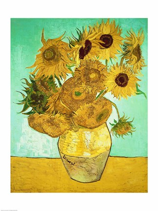 Sunflowers 1888 Fine Art Print By Vincent Van Gogh At