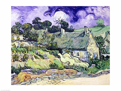 Framed Thatched cottages at Cordeville Print