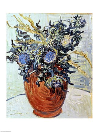 Framed Still Life with Thistles, 1890 Print