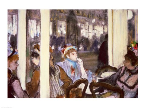 Framed Women on a Cafe Terrace, 1877 Print