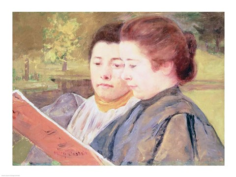 Framed Women Reading Print