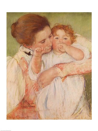 Framed Mother and Child, 1897 Print