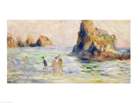 Framed Moulin Huet Bay Print