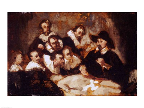 The Anatomy Lesson After Rembrandt C1856 Fine Art Print By