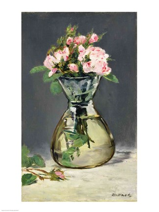 Moss Roses In A Vase 1882 Fine Art Print By Edouard Manet At