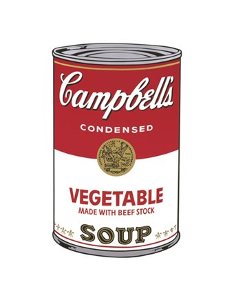 Framed Campbell's Soup I:  Vegetable, 1968 Print