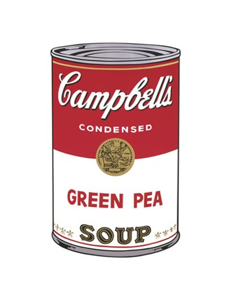 Framed Campbell's Soup I:  Green Pea, 1968 Print
