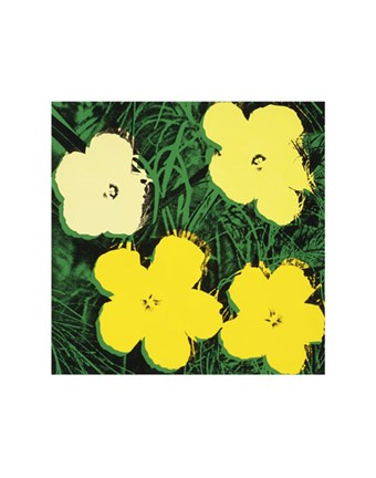 Framed Flowers, 1970 (4 yellow) Print
